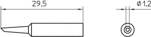 Lötspitze Rundform, abgeschrägt 45° Weller Professional XNT 4 Spitzen-Größe 1.2 mm Inhalt 1 St.