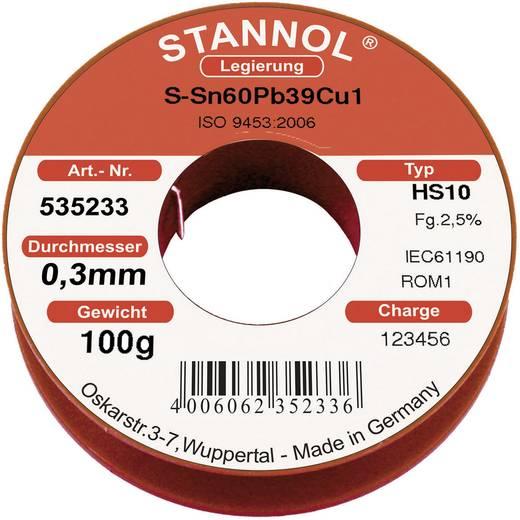 Lötzinn, bleihaltig Spule Stannol HS 10 Sn60Pb39Cu1 100 g 0.3 mm