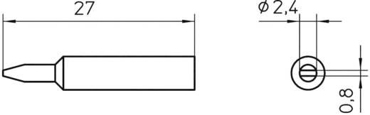 Lötspitze Meißelform Weller Professional XNT B Spitzen-Größe 2.4 mm Inhalt 1 St.