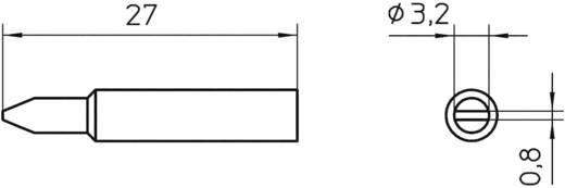 Lötspitze Meißelform Weller Professional XNT C Spitzen-Größe 3.2 mm Inhalt 1 St.