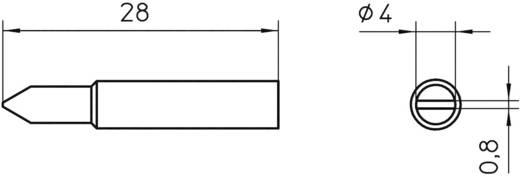 Lötspitze Meißelform Weller Professional XNT D Spitzen-Größe 4 mm Inhalt 1 St.