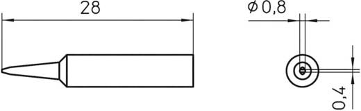 Lötspitze Meißelform Weller XNT H Spitzen-Größe 0.8 mm Inhalt 1 St.