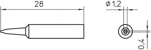 Lötspitze Meißelform Weller XNT K Spitzen-Größe 1.2 mm Inhalt 1 St.