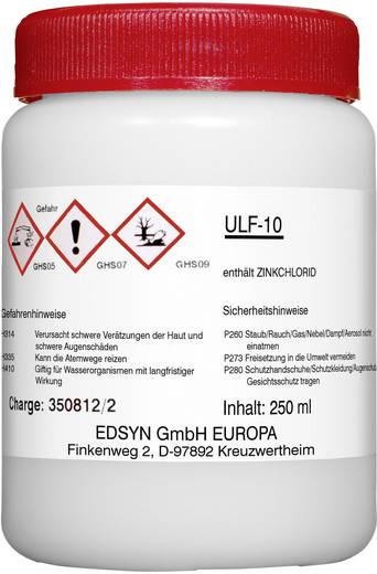Lötfett Edsyn ULF10 Inhalt 250 ml F-SW 22