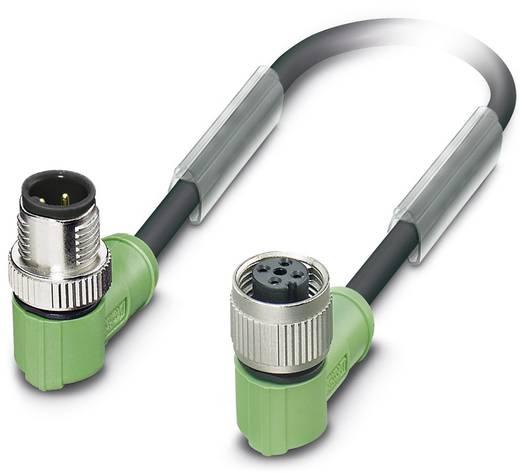 Sensor-/Aktor-Steckverbinder, konfektioniert M12 Stecker, gewinkelt, Buchse, gewinkelt 10 m Polzahl: 4 Phoenix Contact 1