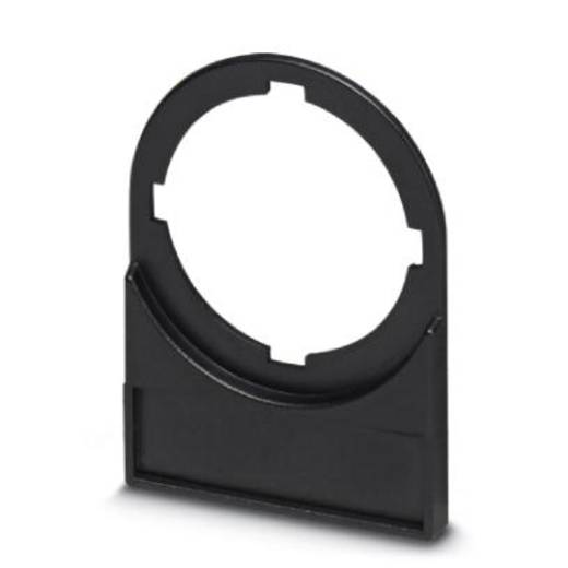 Zeichenträger Montage-Art: aufclipsen Beschriftungsfläche: 27 x 8 mm Passend für Serie Taster und Schalter 22 mm Schwarz