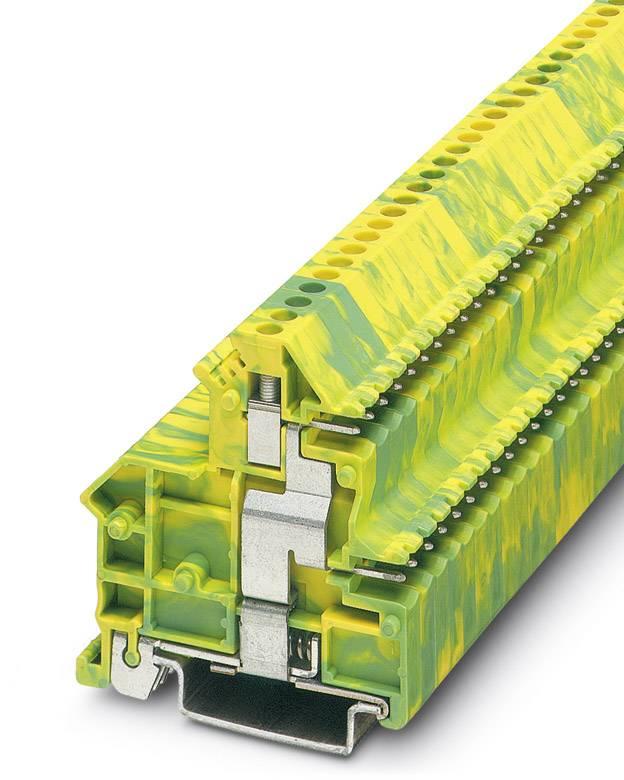 Grün-Gelb 50 x Doppelstockklemme 1876615 UKK 3-MSTB-5,08-PE