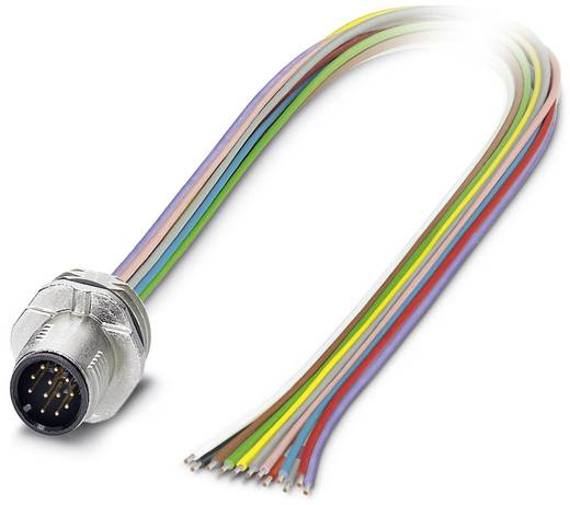Sensor-/Aktor-Einbausteckverbinder M12 Stecker, Einbau 0.50 m Polzahl: 12 Phoenix Contact 1556265 SACC-E-MS-12CON-M16/0,