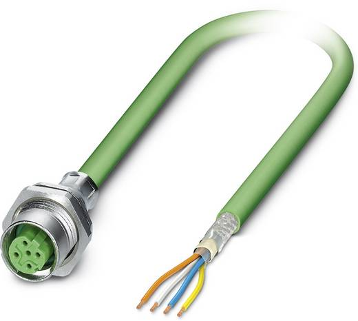 Sensor-/Aktor-Einbausteckverbinder M12 Buchse, Einbau 2 m Polzahl (RJ): 4 Phoenix Contact 1437782 SACCBP-FSD-4CON-PG9/2,