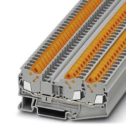 Řadová svorka průchodky Phoenix Contact QTC 2,5-TWIN 3206445, 50 ks, šedá