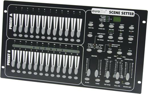 DMX Controller Eurolite Scene Setter 24-Kanal 19 Zoll-Bauform, Musiksteuerung