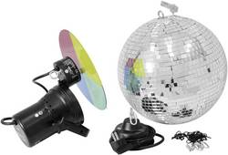 Sada zrcadlové koule, reflektoru a motoru, 30 cm