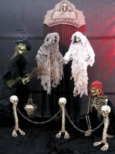 Halloween Schädellaterne Metall
