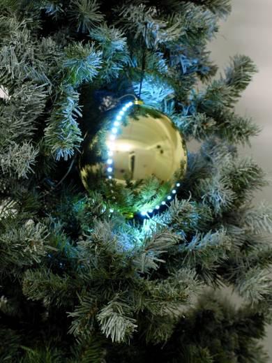 LED-Weihnachtsdekoration Schneeball Weiß Europalms 83501237 Gold