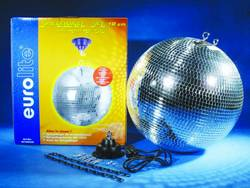 led discokugel set mit motor mit led beleuchtung 20 cm ma 9 kaufen conrad. Black Bedroom Furniture Sets. Home Design Ideas