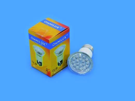 LED Lichteffekt Leuchtmittel Omnilux JDR 230 V E27 1 W Weiß