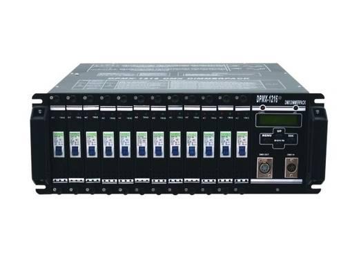 DMX Dimmer Eurolite DPMX-1216 12-Kanal 19 Zoll-Bauform