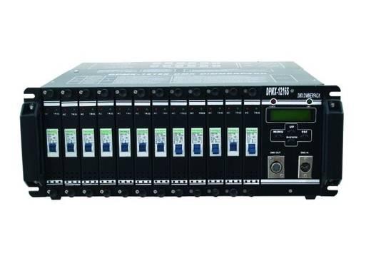 DMX Dimmer Eurolite DPMX-1216 S 12-Kanal 19 Zoll-Bauform
