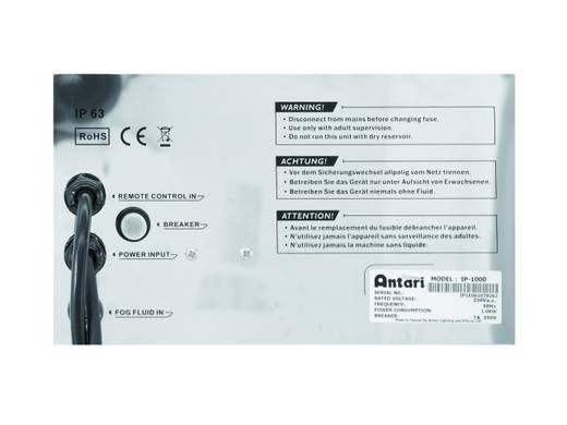 Nebelmaschine Antari IP-1000 inkl. Kabelfernbedienung