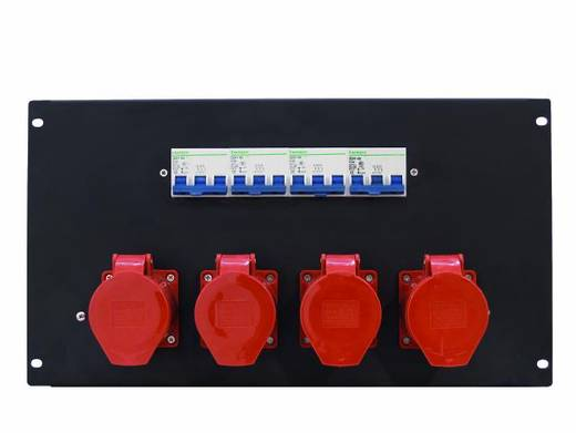 19 Zoll Stromverteiler 4fach Eurolite PDM 6U 4CEE 32A / 5 pins 6 HE