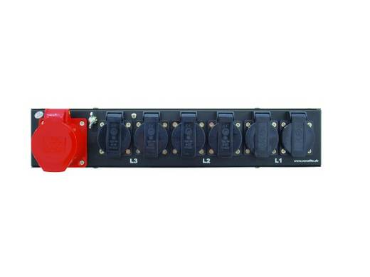 19 Zoll Stromverteiler 6fach Eurolite SBM-16 2 HE