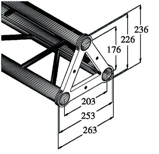 3-Punkt Traverse 20 cm Alutruss TRISYSTEM PST-200