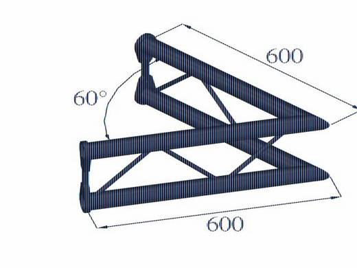 2-Punkt Traverse Ecke 60 ° Alutruss BISYSTEM PV-20