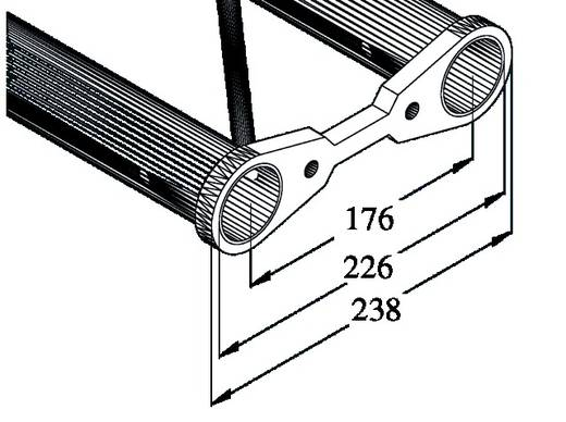 2-Punkt Traverse 20 cm Alutruss BISYSTEM PBT-200