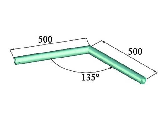 1-Punkt Traverse Ecke 135 ° Alutruss SINGLELOCK SPAC-23