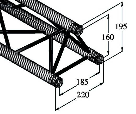 3-Punkt Traverse 100 cm Alutruss DECOLOCK DQ3-1000