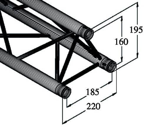 3 punkt traverse 300 cm alutruss decolock dq3 3000. Black Bedroom Furniture Sets. Home Design Ideas