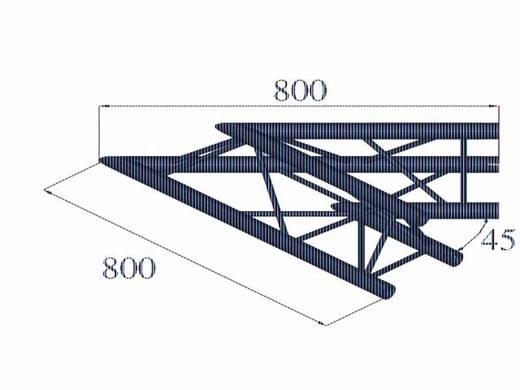 3-Punkt Traverse Ecke 45 ° Alutruss DECOLOCK DQ3-PAC19