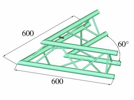 3-Punkt Traverse Ecke 60 ° Alutruss DECOLOCK DQ3-PAC20