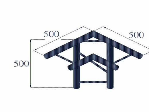 2-Punkt Traverse 3-Weg-Ecke 90 ° Alutruss BILOCK BQ2-PAL31H