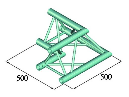 3-Punkt Traverse Ecke 90 ° Alutruss TRILOCK 6082AC-21