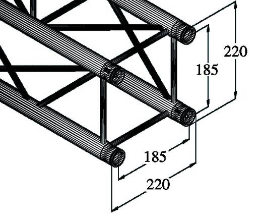 4-Punkt Traverse 200 cm Alutruss DECOLOCK DQ4-2000