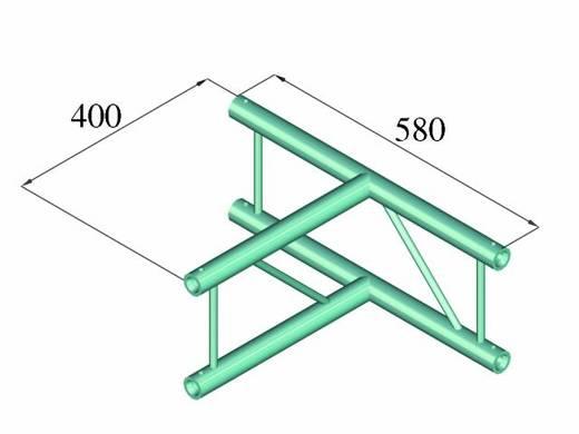 2 punkt traverse t st ck 90 alutruss decolock dq2 pat36v. Black Bedroom Furniture Sets. Home Design Ideas