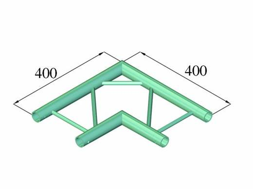 2-Punkt Traverse Ecke 90 ° Alutruss DECOLOCK DQ2-PAC21H