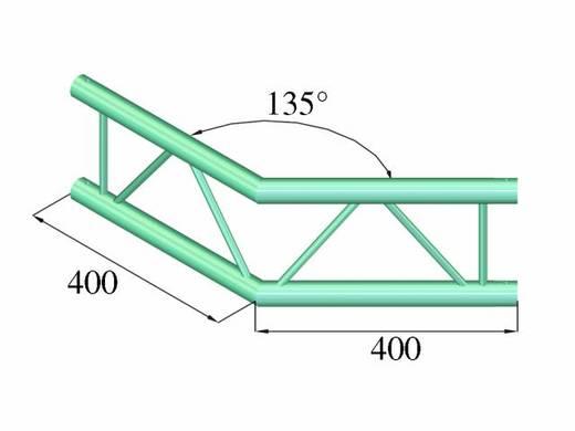 2-Punkt Traverse Ecke 135 ° Alutruss DECOLOCK DQ2-PAC23V