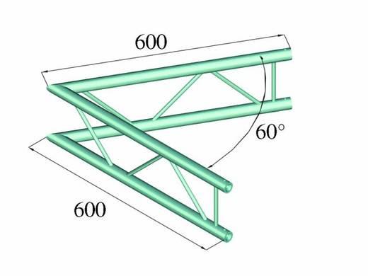 2-Punkt Traverse Ecke 60 ° Alutruss DECOLOCK DQ2-PAC20V