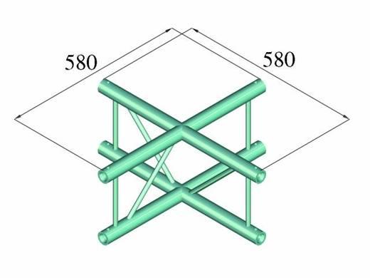 2-Punkt Traverse Kreuzstück 90 ° Alutruss DECOLOCK DQ2-PAC41V