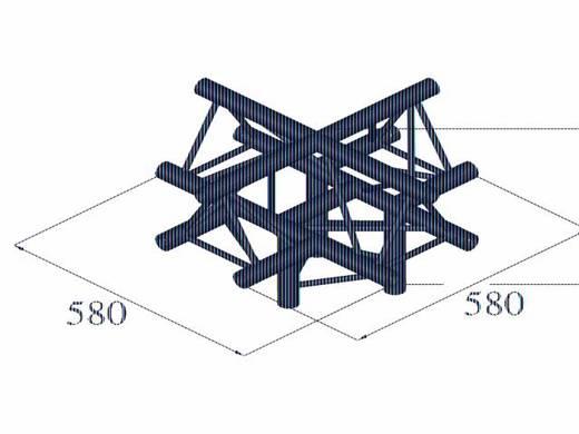 2-Punkt Traverse 5-Weg-Ecke 90 ° Alutruss DECOLOCK DQ3-PAC52