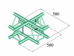 Traverse 3 points pièce en croix 90 ° Alutruss DECOLOCK DQ3-PAC41