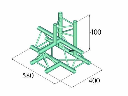 3-Punkt Traverse 4-Weg-Ecke 90 ° Alutruss DECOLOCK DQ3-PAT42
