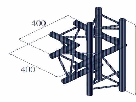 3-Punkt Traverse 4-Weg-Ecke 90 ° Alutruss DECOLOCK DQ3-PAC44