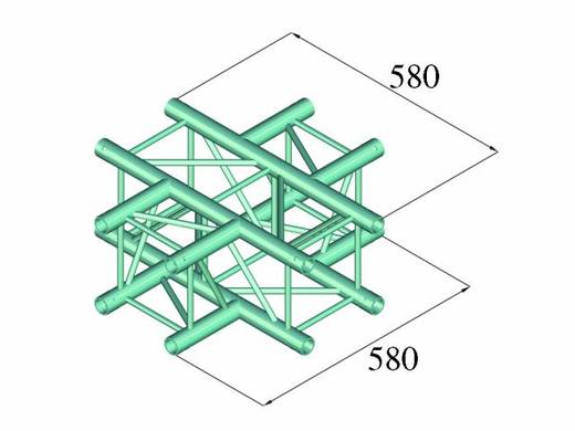 4-Punkt Traverse Kreuzstück 90 ° Alutruss DECOLOCK DQ4-PAC41