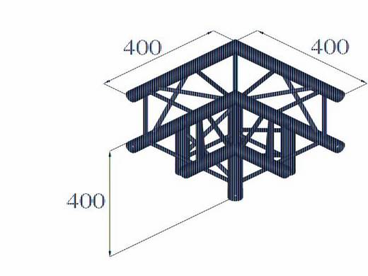 4-Punkt Traverse 3-Weg-Ecke 90 ° Alutruss DECOLOCK DQ4-PAL30