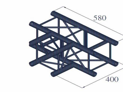 4-Punkt Traverse T-Stück 90 ° Alutruss DECOLOCK DQ4-PAT35