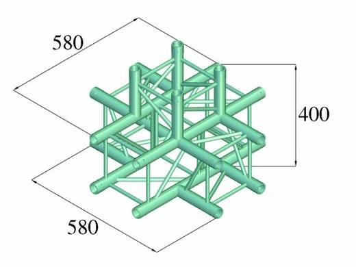 4-Punkt Traverse 5-Weg-Ecke 90 ° Alutruss DECOLOCK DQ4-PAT51