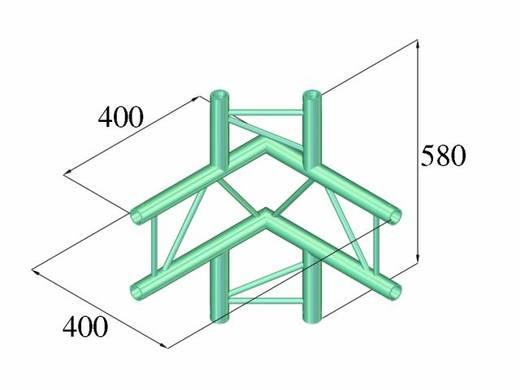 2-Punkt Traverse 4-Weg-Ecke 90 ° Alutruss DECOLOCK DQ2-PAC44V